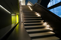 illuminated staircases- tread or risers